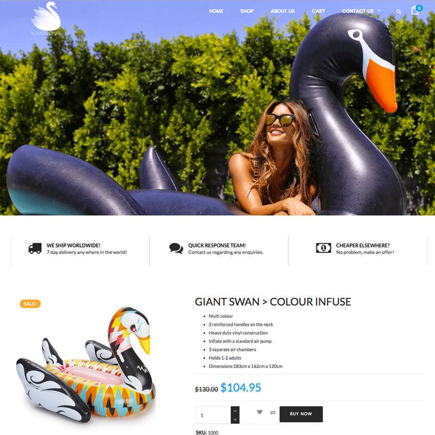 FLOATED - PORTFOLIO Web Design