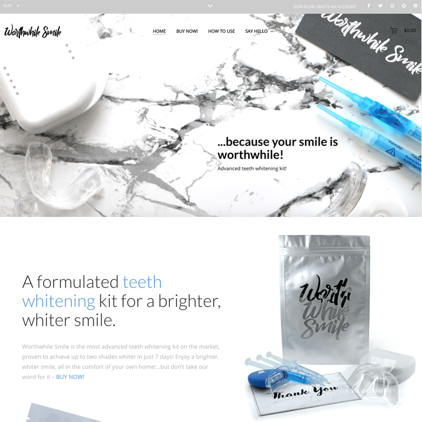 WORTH WHILE SMILE - PORTFOLIO Design